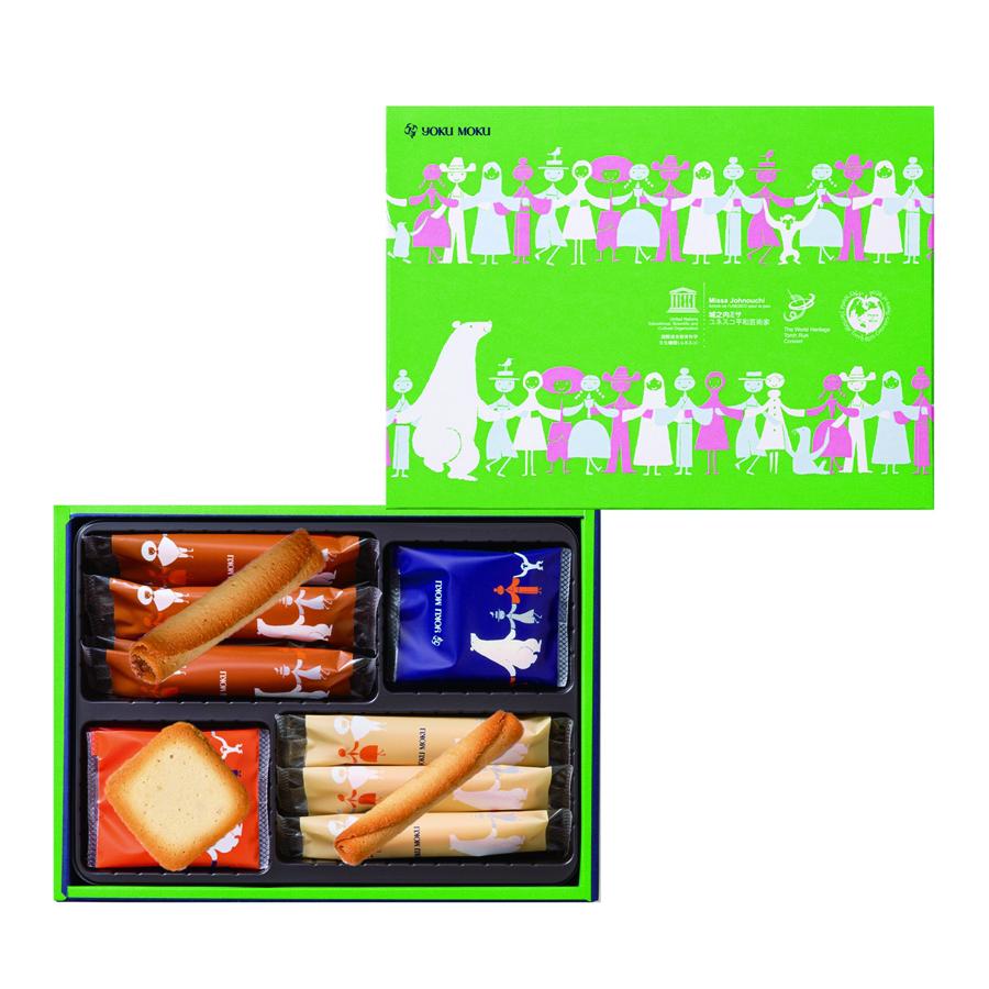 クッキー アソート(プティ シガール6本、プティ シガール オゥ ショコラ6本、ドゥーブル ショコラ オレ9枚、計21枚入)